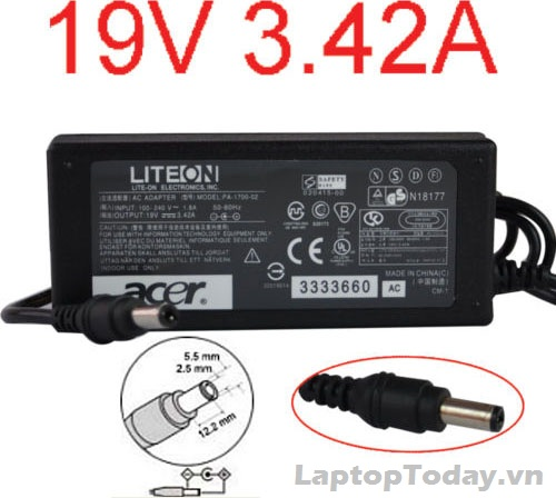 AC Adapter for Acer 19v - 3.42a