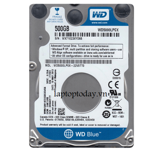 Ổ cứng laptop WD Blue 500GB 5400rpm
